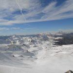 Trekking sulla neve tra lago Scaffaiolo e Capanna del Sasseto